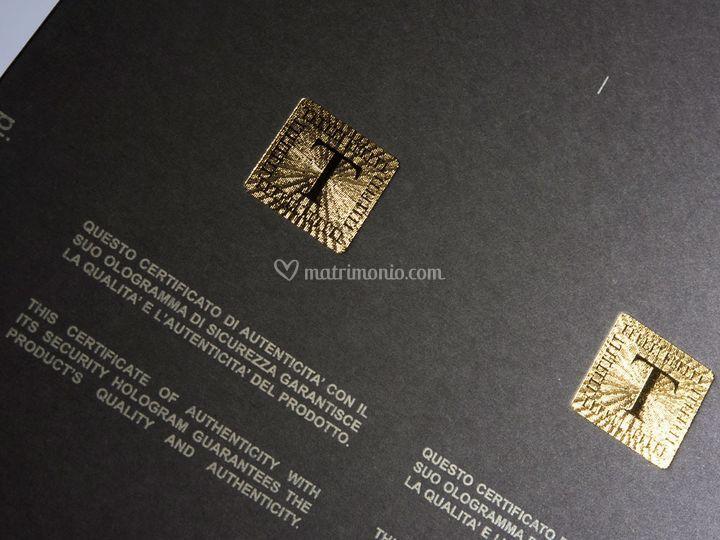 Stampa oro microincisa