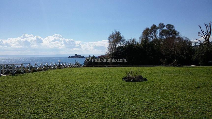Parco con vista sulle isole