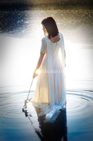 Sposa sul lago