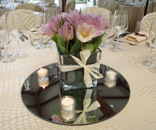 Centrotavola di tulipani
