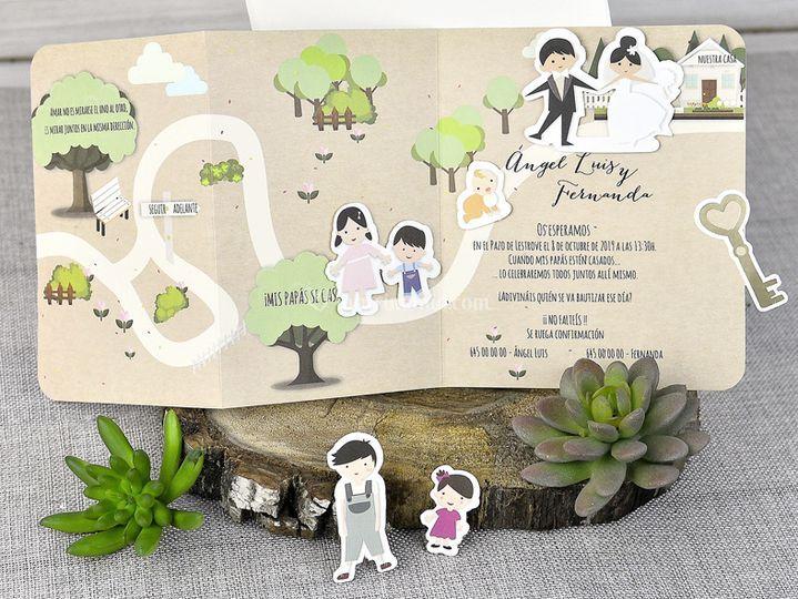 Partecipazione nozze 39301