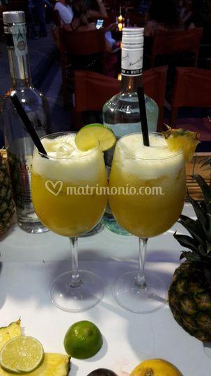 Vodka pinepple ginger frozen