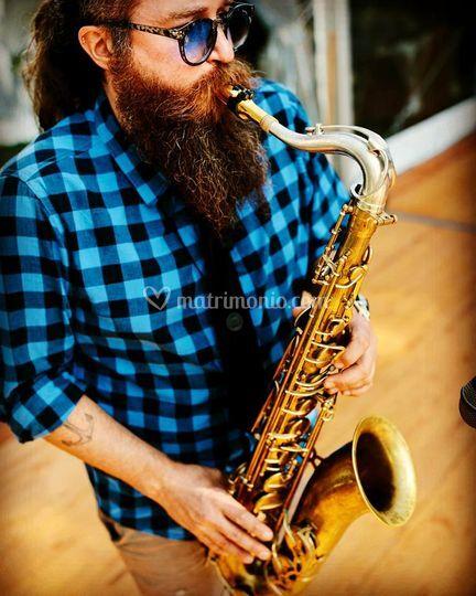 On tenor sax latin jazz
