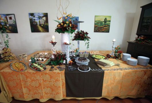 A buffet all'interno