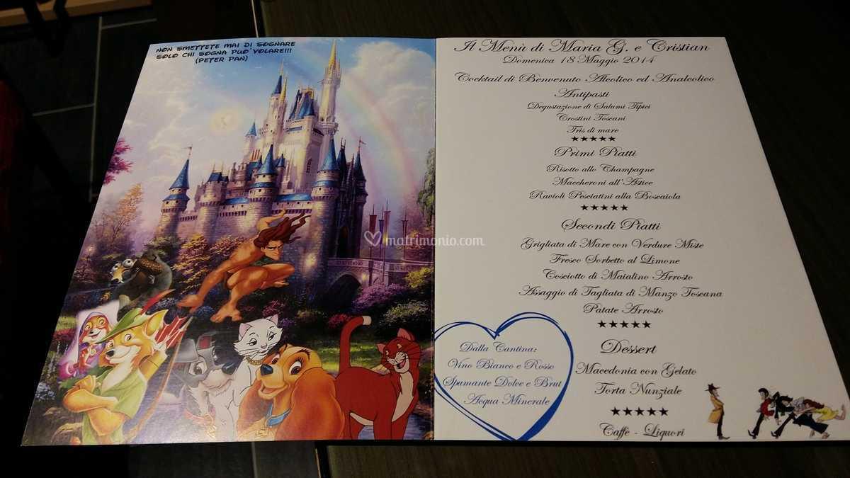 Partecipazioni Matrimonio Walt Disney.Menu Walt Disney Interno Di Studio Digital Multimedia Foto 4