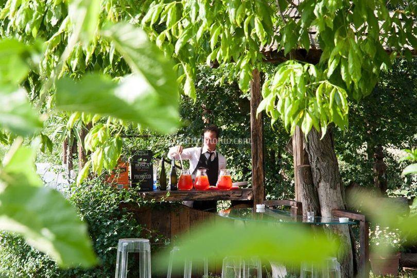 Open Bar in Giardino