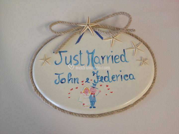 Medaglione porta oggi sposi