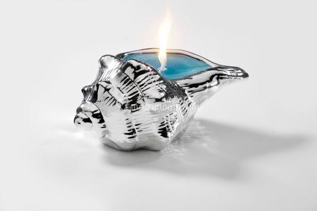 Conchiglia con candela