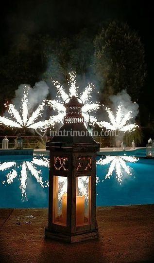 Spettacolo di fuochi artificia