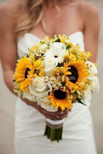 Bouquet girasole toscana wedding