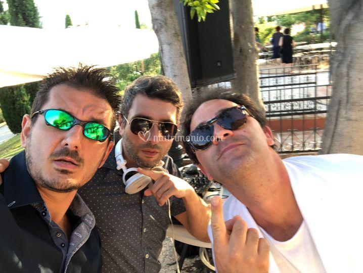 Il trio a Villa La Cerbara