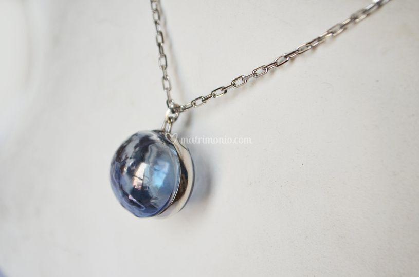 Murano Pendant BlueSky/Silver