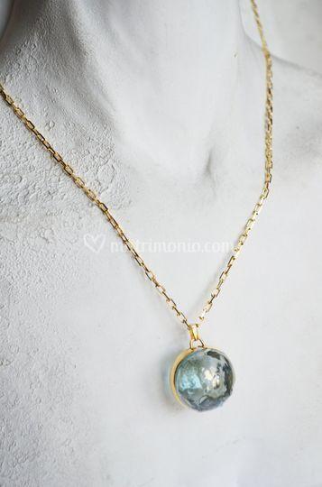Murano Pendant GreenLag/Gold