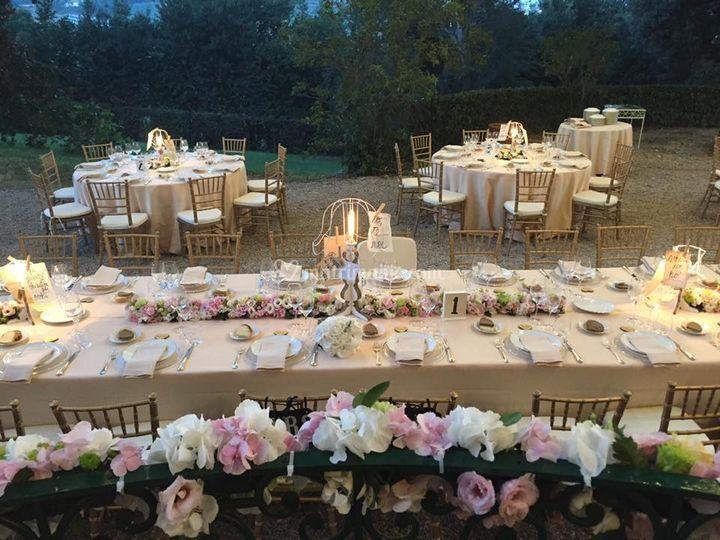Tavolo imperiale e tondi