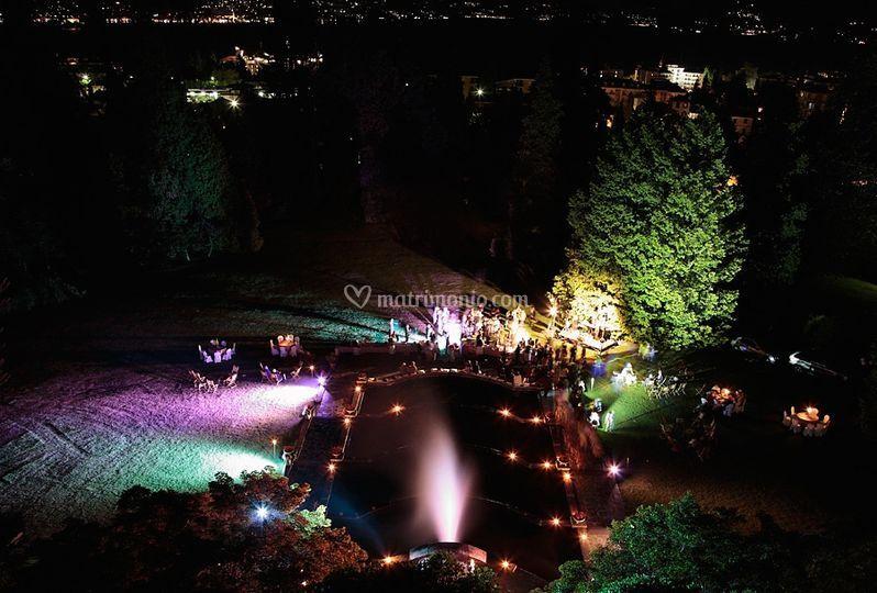 Fontana incorniciata a LED