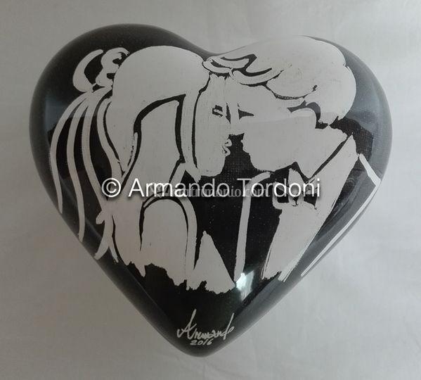 Scatola ceramica cuore