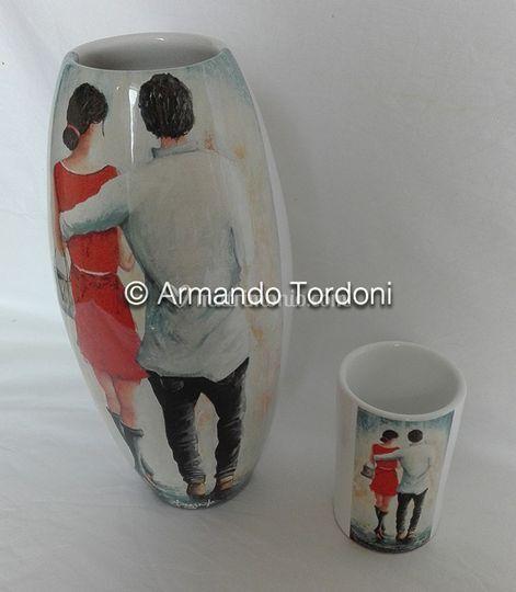 Vaso ceramica deruta