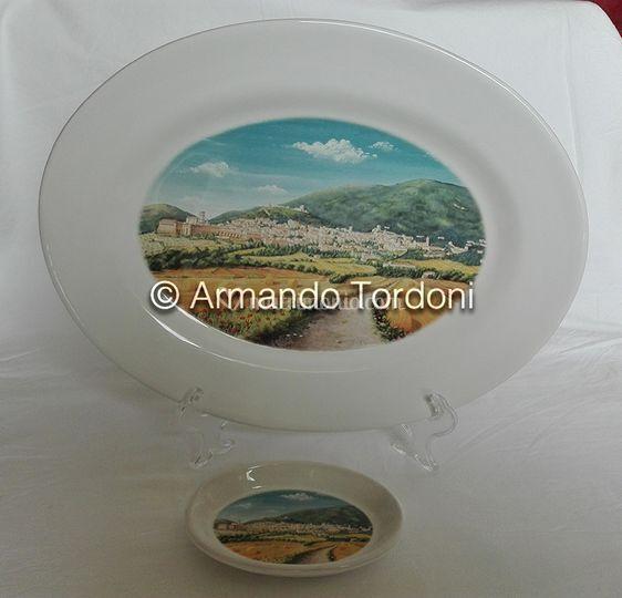 Piatto ceramica deruta