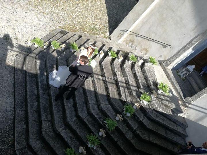 La scalinata della Chiesa