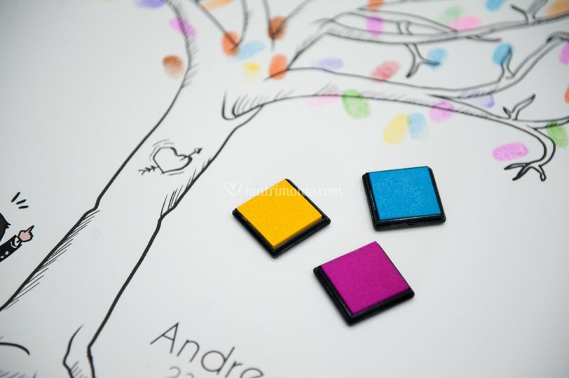 Guestbook albero con impronte