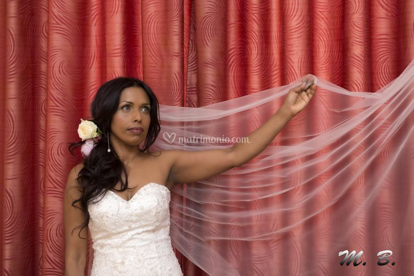 La sposa in posa