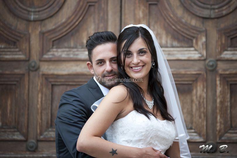 Gli sposi in posa
