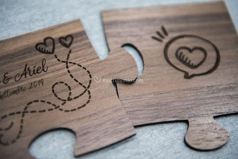 Bomboniera Puzzle incisa