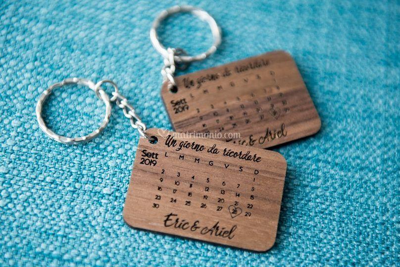 Save the Date con portachiavi