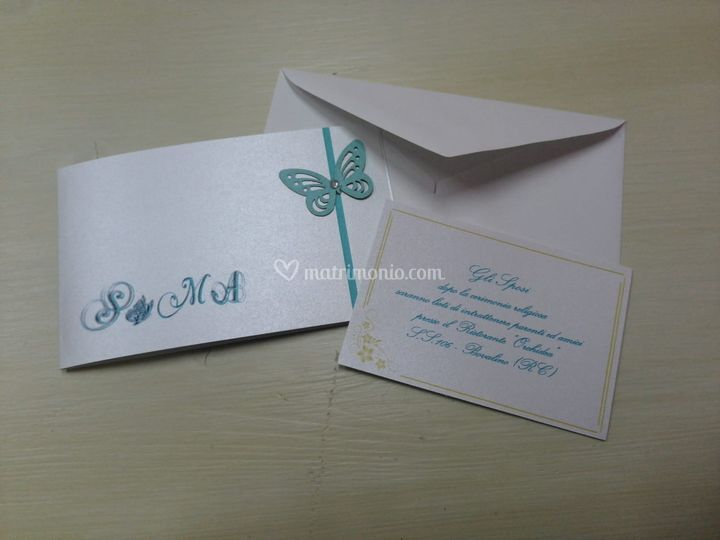 Invito farfalle tiffany