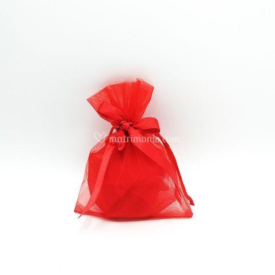 Sacchetto in organza rosso