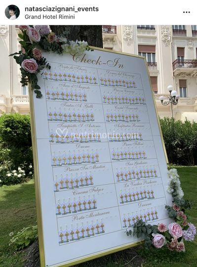 Tableau de mariage check in