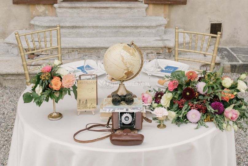 Travel Themed Wedding