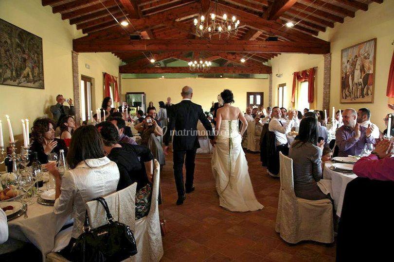 La sala con gli ospiti
