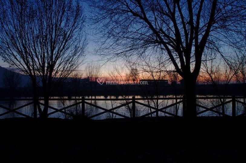 Il laghetto al tramonto