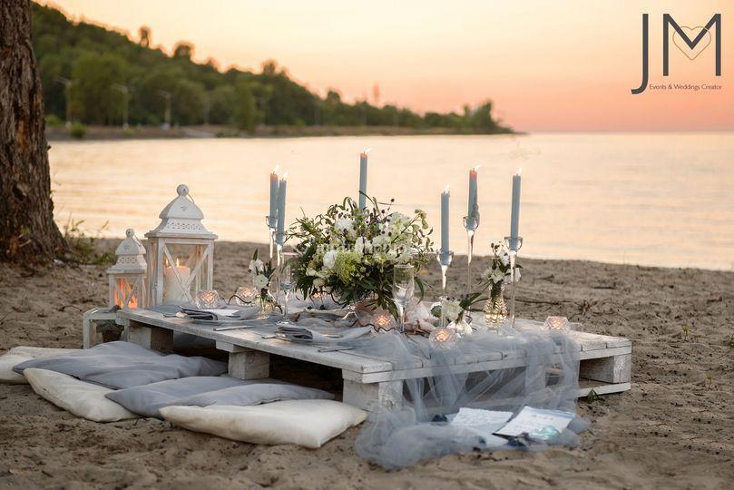 Un wedding shabby al tramonto