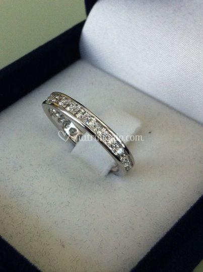 Fede oro bianco diamanti
