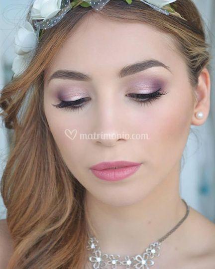 Moda trucco sposa rosa vx94 pineglen - Make up mariage ...