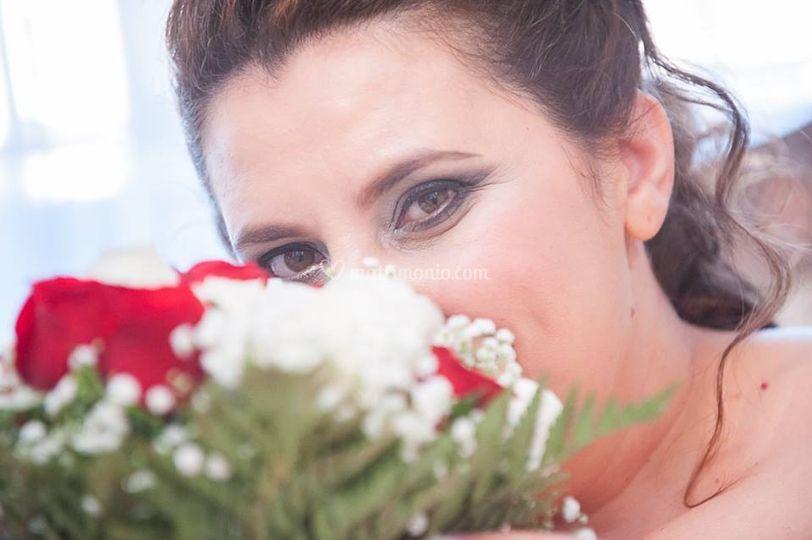 Make up sposa sul grigio
