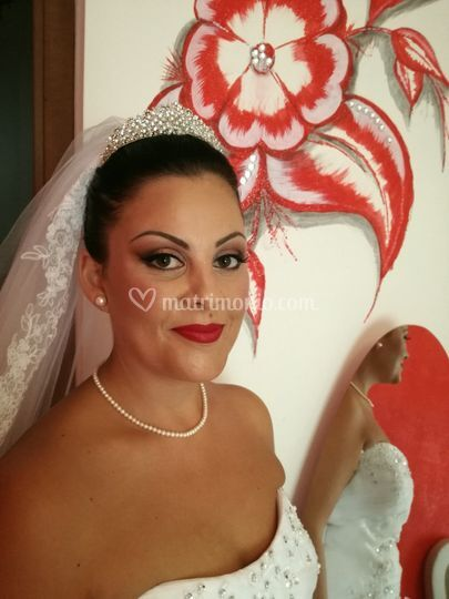 Make up sposa rossetto rosso