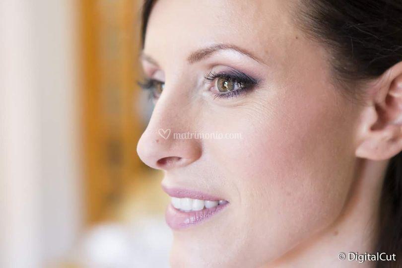 Make up sposa rosa