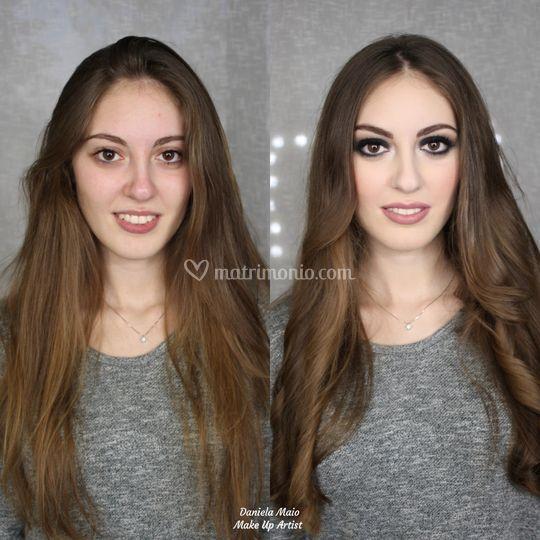 Make up sera smokey eyes