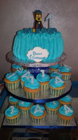 Torta con cup cake