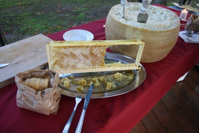 Il miele dal telaio