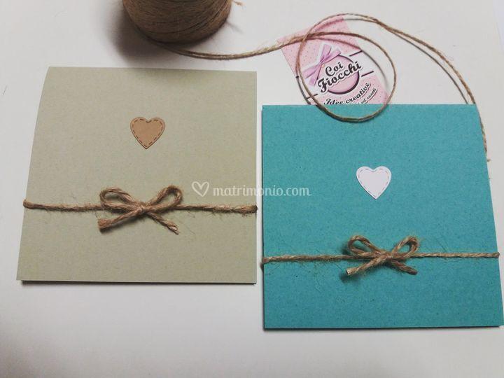 Inviti nozze carta riciclata