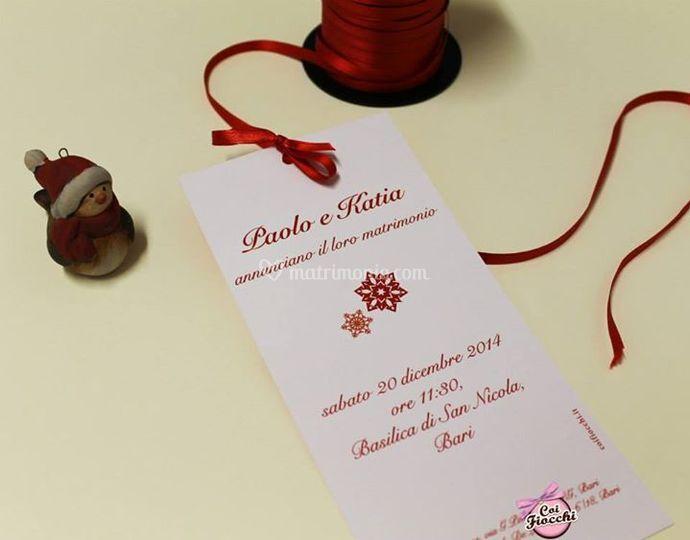 Matrimonio natalizio: annuncio