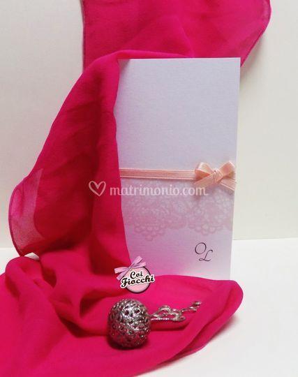 Invito classico bianco&rosa