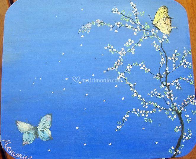 Bomboniera con le farfalle