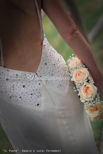 Particolare vestito sposa