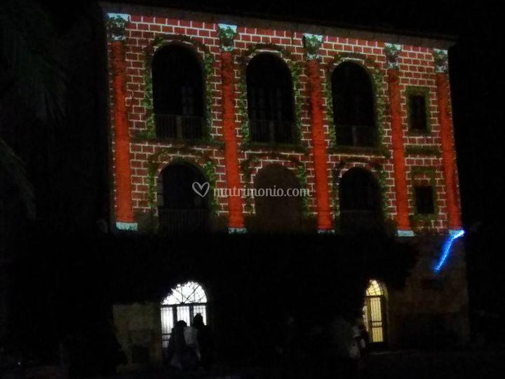 Esempio video mapping facciata