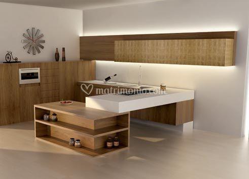 Parete soggiorno 240 cm - Cucine moderne a parete ...